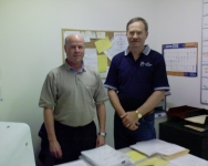 Picture of Barry and Gary our successful scheduling team